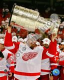 Johan Franzen with the Stanley Cup, Game 6 of the 2008 NHL Stanley Cup Finals; #31 Art Print