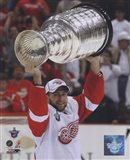 Brian Rafalski with the Stanley Cup, Game 6 of the 2008 NHL Stanley Cup Finals; #32 Art Print