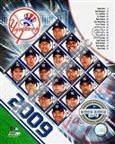 2009 New York Yankees Team Composite Art Print