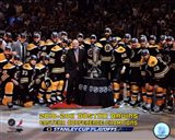 The Boston Bruins Celebrate Winning Game Seven of the Eastern Conference Finals with Overlay Art Print