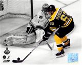 Brad Marchand Game 3 of the 2011 NHL Stanley Cup Finals Spotlight Action Art Print