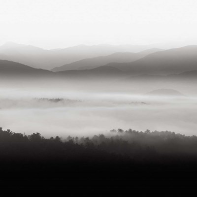 Still Morning Smoky Mountains Art Print by Bell