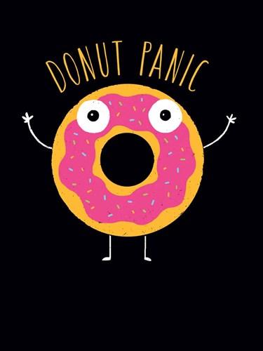Donut Panic Art Print by Buxton