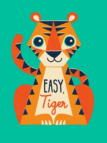 Easy Tiger Art Print by Buxton