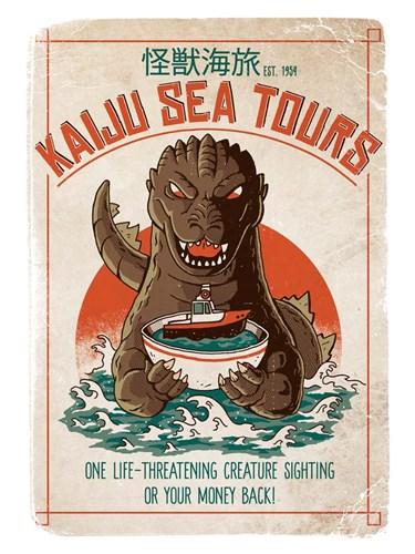 Kaiju Sea Tours Art Print by Buxton