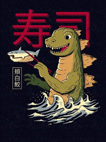 Monster Sushi Art Print by Buxton