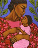 African Mother and Baby Art Print