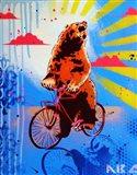 Bear Back Rider Art Print