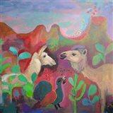 The Camel and the Llama Art Print