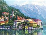 Reflections of Lake Como Art Print