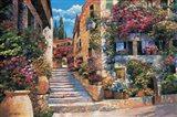 Riviera Stairs Art Print