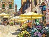 Siena Flower Market Art Print