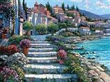 Steps of St. Tropez Art Print
