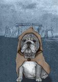 English Bulldog with Stonehenge Art Print