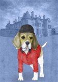 Beagle with Beaulieu Palace Art Print