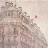 Heart Paris Art Print