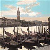 Campanile Vista with Gondolas Art Print