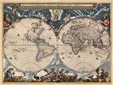 Nova et Accuratissima Totius Terrarum Orbis Tabula Art Print