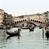 Ponte Rialto con Gondolas Art Print