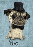 Gentle Pug Art Print