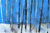 Birch and Black Ash Saplings Art Print
