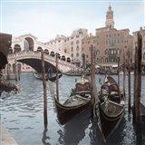 Rialto Bridge Gondolas Art Print
