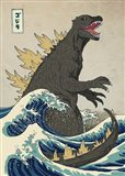 The Great Monster off Kanagawa Art Print