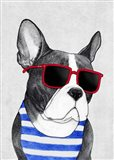 Frenchie Summer Style Art Print