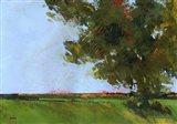Autumn Oak and Empty Fields Art Print