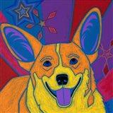 Joyful Corgi Art Print
