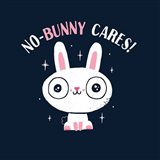 No Bunny Cares Art Print