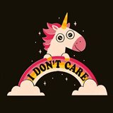 Unicorn Don't Care Art Print