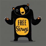Free Shrugs Art Print