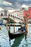 Gondola Rialto Bridge #1 Art Print
