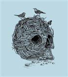 Skull Nest Art Print