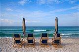 Beach Chairs Art Print
