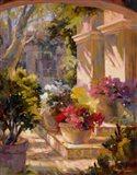 Flowered Courtyard Art Print