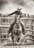Ride 'Em Cowgirl Art Print