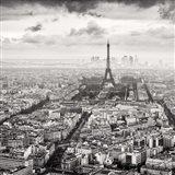 La Tour Eiffel et La Defense Art Print