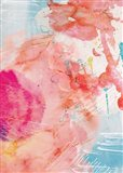 Abstract Turquoise Pink No. 1 Art Print