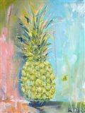 Chartreuse Pineapple Art Print