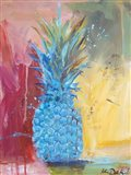 Cobalt Pineapple Art Print