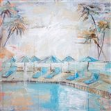 Poolside at Kahala Art Print
