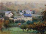 Countryside Hamlet Art Print