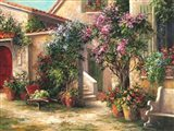 Garden Courtyard Art Print