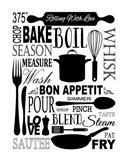 Culinary Love 1 (black & white) Art Print