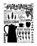 Culinary Love 2 (black & white) Art Print