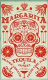 Margarita Recipe Art Print