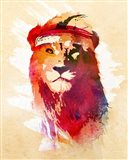 Gym Lion Art Print