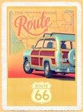 Route 66 Vintage Travel Art Print